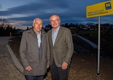 Bürgermeister Franz Wohlmuth und LH-Stellvertreter Stephan Pernkopf