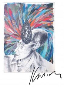 74 Beispiele aus dem grafischen Werk von Peter Klitsch(Ausstellung in der NÖ Landesbibliothek) Broschüre
