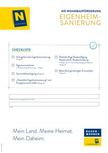 Wohnbauförderung Eigenheimsanierung Antragsmappe NEU - ab 01.10.2019