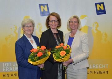 V.l.n.r.: Agnes Schierhuber (Mitglied des EU-Parlaments a.D.), Frauen-Landesrätin Christiane Teschl-Hofmeister und Elisabeth Stadler (Generaldirektorin Vienna Insurance Group)