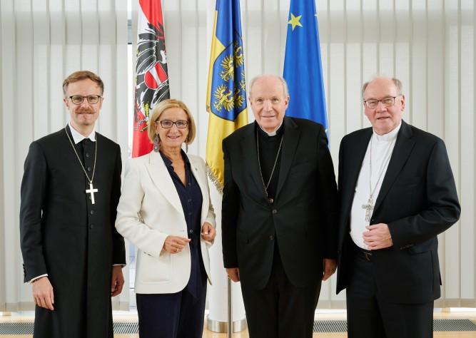 Hohe kirchliche Würdenträger zu Gast im NÖ Landhaus