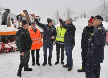 Lagebesprechung in Göstling unter der Leitung von LH-Stellvertreter Stephan Pernkopf.