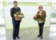 Präsident der NÖ Landarbeiterkammer: Landeshauptfrau Johanna Mikl-Leitner gratuliert Andreas Freistetter zur einstimmigen Wahl