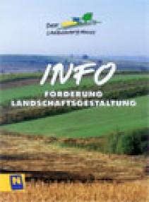 Falter über Förderung Landschaftsgestaltung bzw. Obstbaumprojekte Broschüre