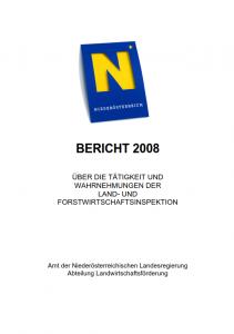 Tätigkeitsbericht der Land- und Forstwirtschaftsinspektion 2008